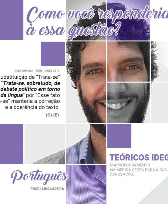TPS 2019 – Comentários Questão 4(2) – CACD Português