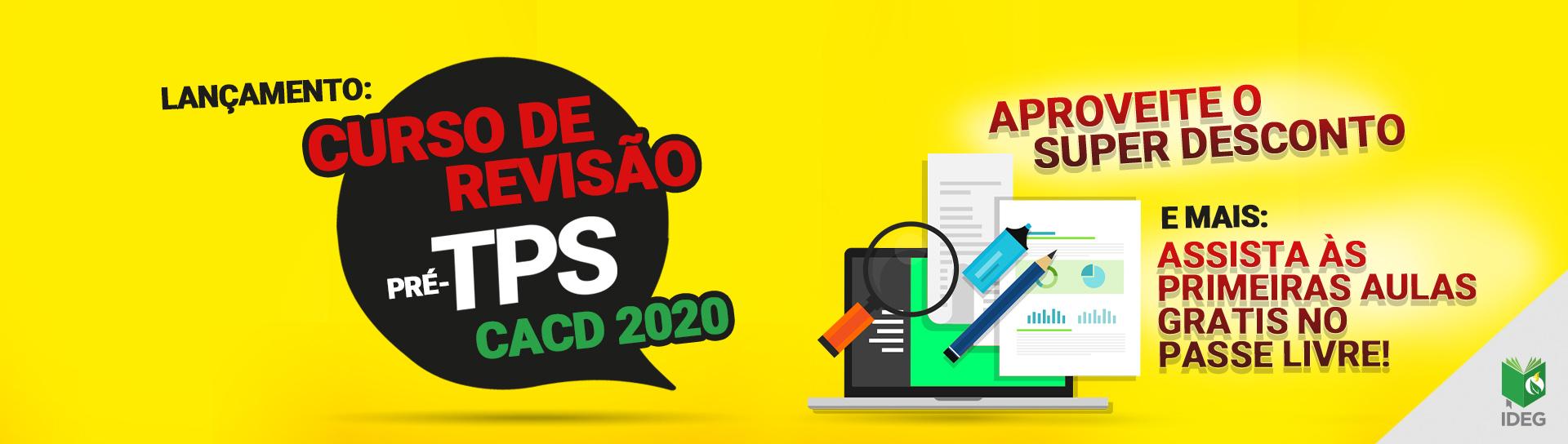 Curso primeira fase cacd 2020